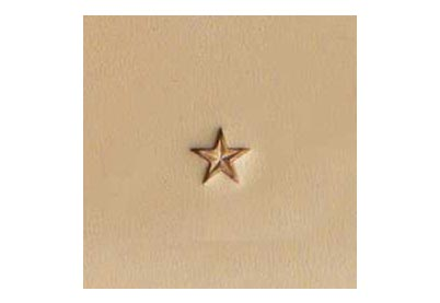 Leerstempel Ster middel, Tandy Leather