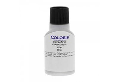 Stempelinkt metallic zilver 50 ml, Coloris 4000 P