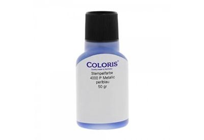 Stempelinkt metallic blauw 50 ml, Coloris 4000 P