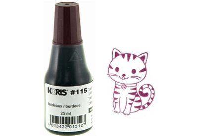 Stempelinkt Bordeaux 25 ml Noris 115