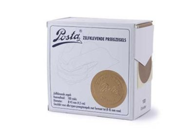 Preegzegels Goud 45 mm