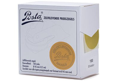 Preegzegels Goud glans 45 mm