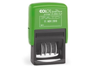 Colop S260/L2 BETAALD Printer Green Line