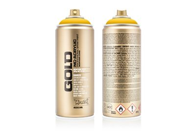 Spuitbus Verfspray Diepgeel 400 ml | Montana Gold