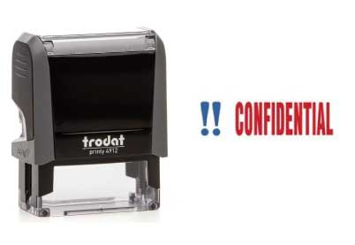 Trodat Stempel Office Printy CONFIDENTIAL
