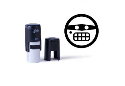 Smiley stempel 015<br>Crimineel gezicht