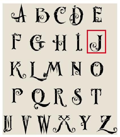 alfabet lakstempel sierlijke letter: j | lakstempel kopen