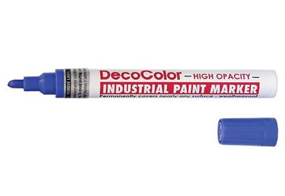 Lakmarker Blauw - DecoColor Industrial Marvy - 2-4 mm
