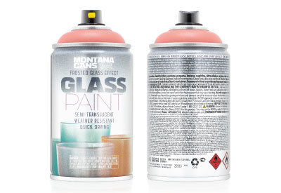 Spuitbus Glasspray Koraalrood 250 ml | Montana Glass Paint