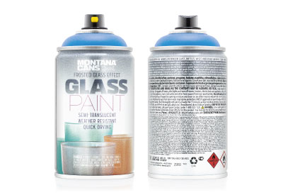 Spuitbus Glasspray Baaiblauw 250 ml | Montana Glass Paint