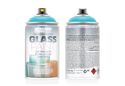 Spuitbus Glasspray Turquoise 250 ml | Montana Glass Paint