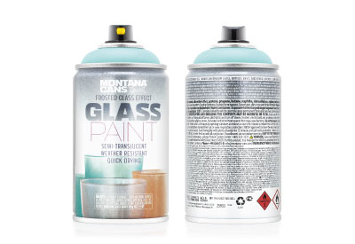 Spuitbus Glasspray Munt 250 ml | Montana Glass Paint