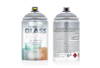 Spuitbus Glasspray Matzwart 250 ml | Montana Glass Paint