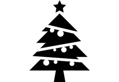 Kerststempel 02 Kerstboom Stempel Om Kerstkaart Te Maken
